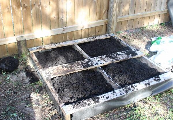 pallet garden soil