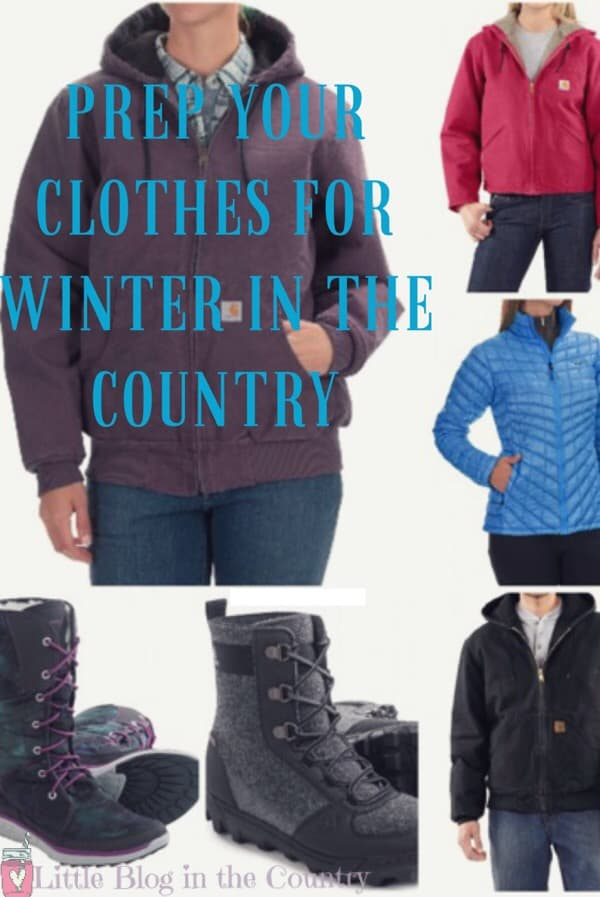 Prepping Your Winter Clothes For Country Living