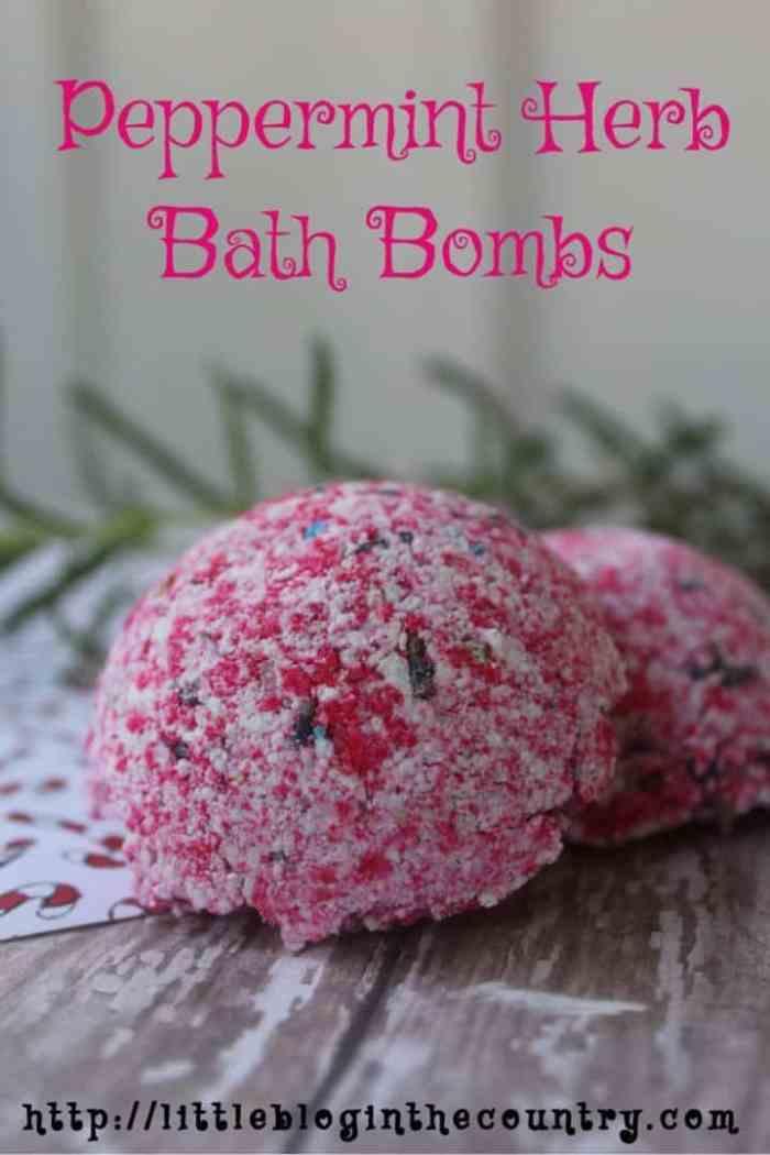 peppermint herb bath bombs