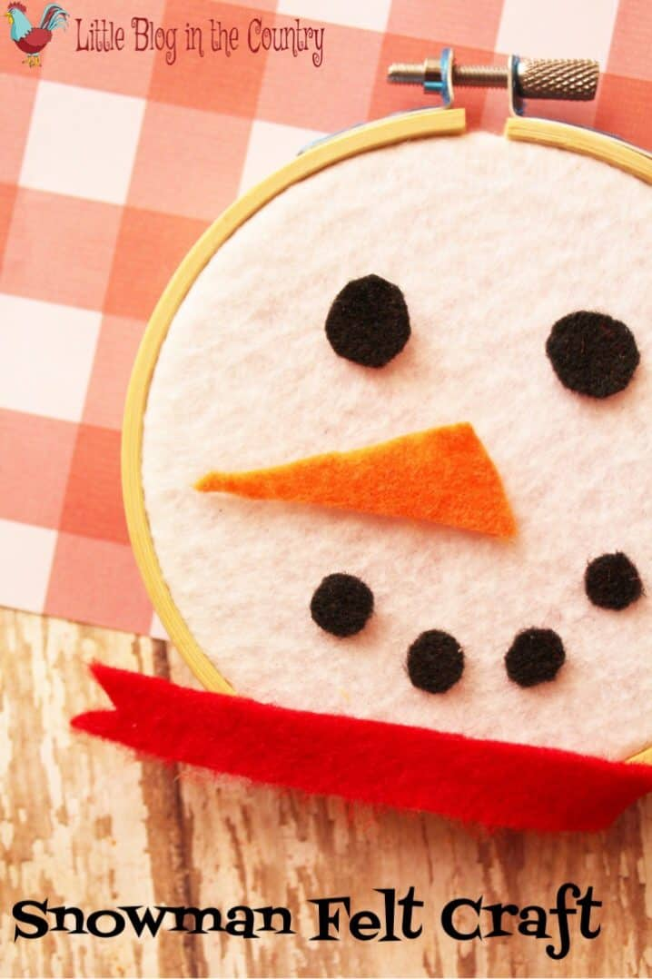 Felt Snowman Wall Craft