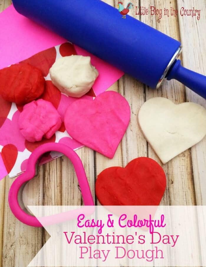 homemade valentine's day playdough