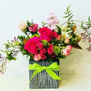Ceramic Box of Flowers