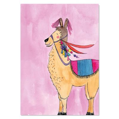 EM Art Print - Luella the Llama