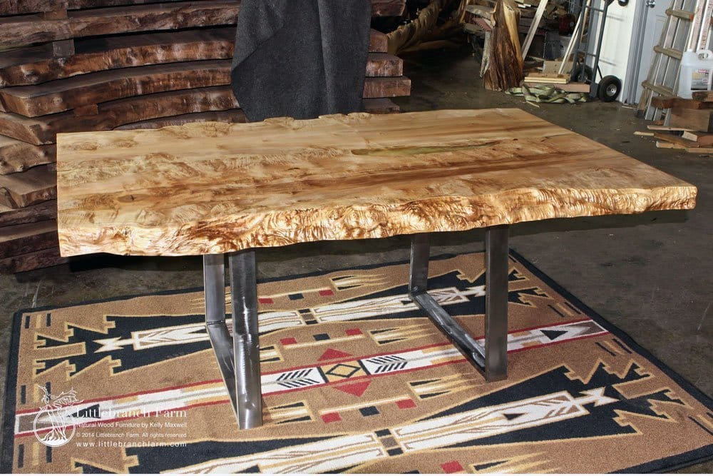 black metal and wood dining chairs roll easy transport chair rustic table - live edge slabs | littlebranch farm