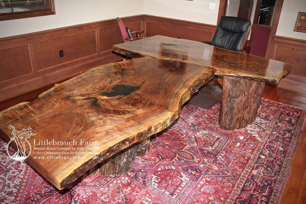 Custom live edge desk