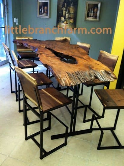 natural wood table