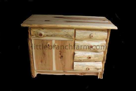 Rustic log vanities