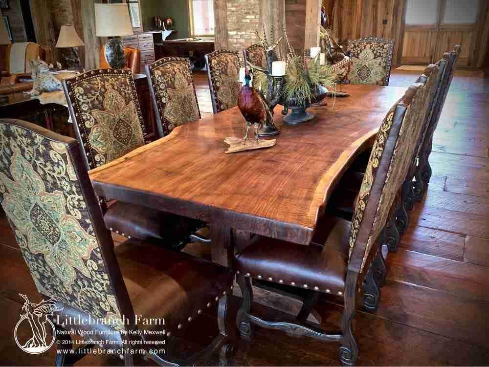 live edge slabs as wood furniture