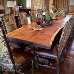 Heavy Duty Kitchen Chairs Home And Stores Wood-slab-dining-table | Littlebranch Farm