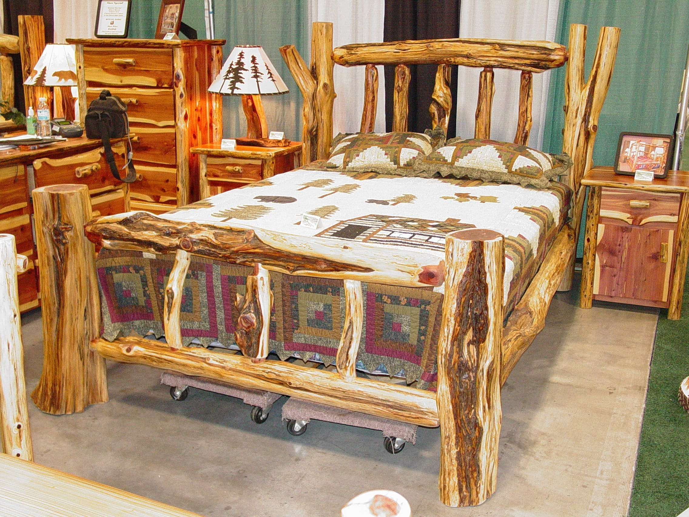 Rustic Log Beds  twisted juniper beds