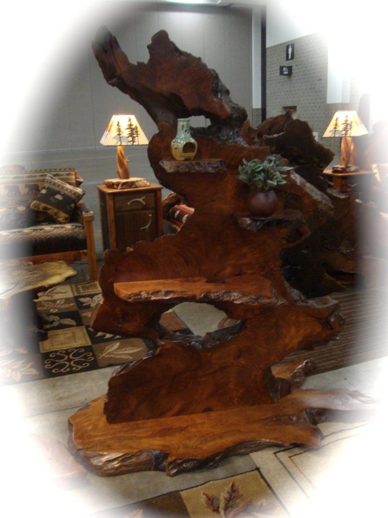 live edge redwood art