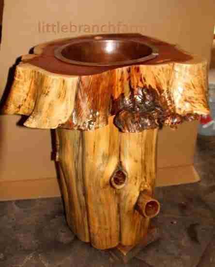 log vanities
