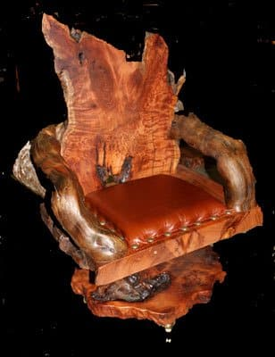 slab wood chair