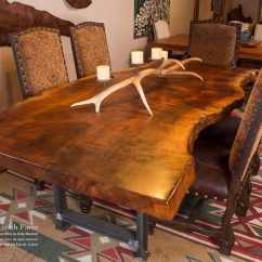 Live Edge Kitchen Table Cost Per Linear Foot Cabinets In Stock And For Sale Littlebranch Farm Rustic Log Furniture Dining