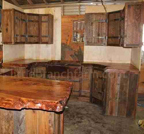 barn wood cabinets