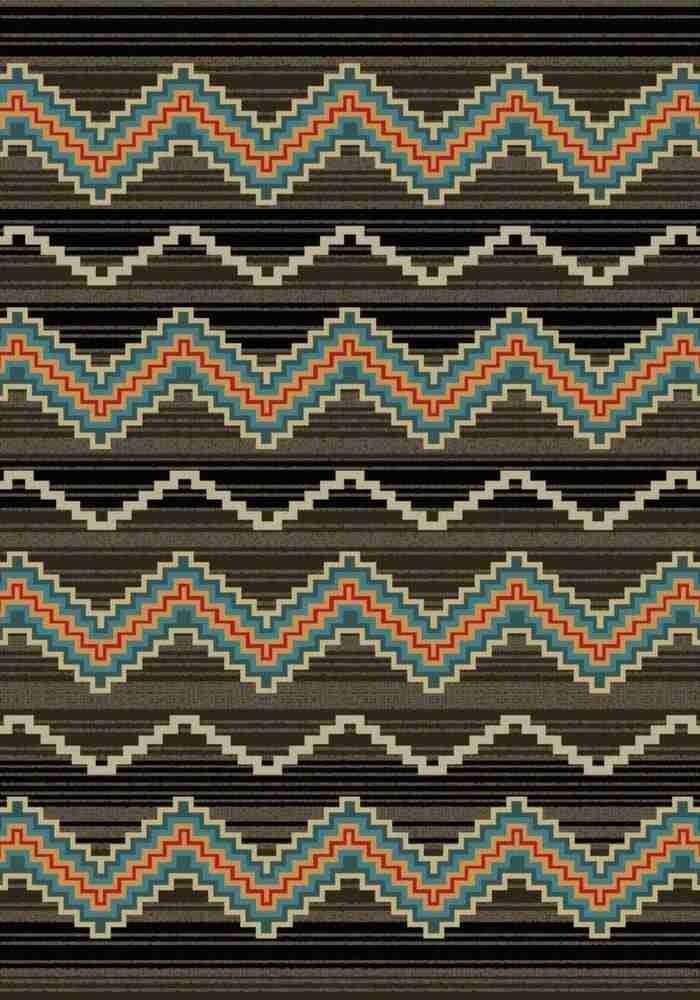 Trapper - Brown   Southwestern rugs by American Dakota