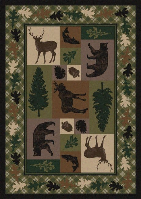 Wildlife Retreat | Southwestern Rugs by American Dakota