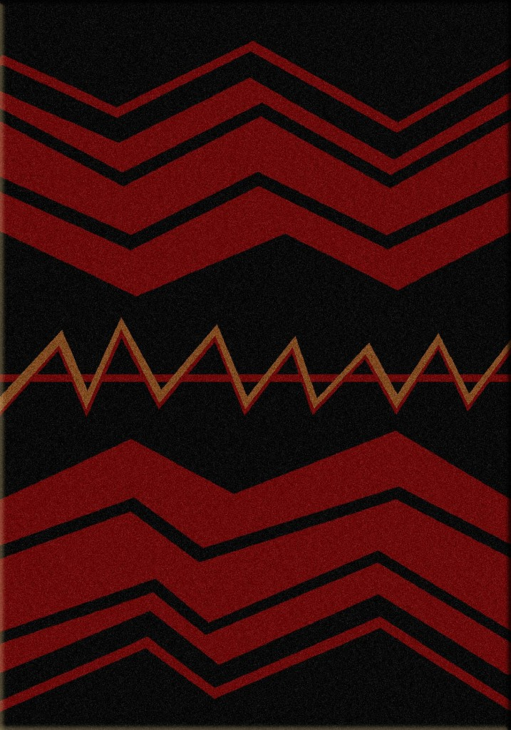 War Path- Black | Southwest rugs by American Dakota
