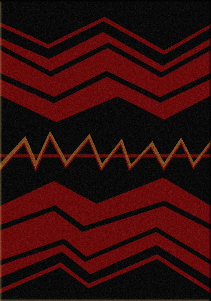 War Path- Black | Southwest rugs by American Dakota