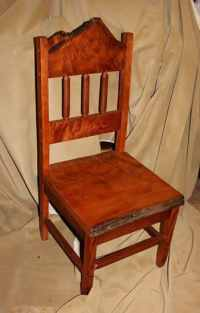 Rustic Chairs - live edge burl wood slabs