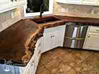 Natural wood countertops - live edge wood slabs ...