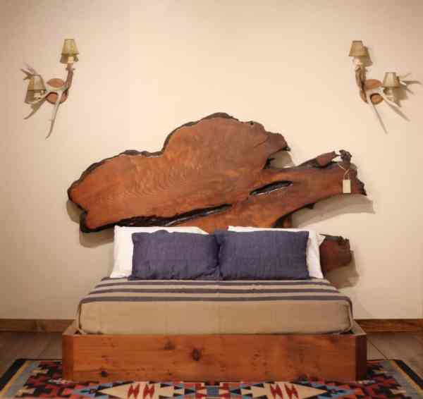 Rustic Modern Platform Queen Bed
