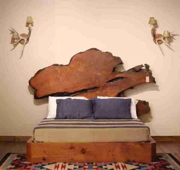 Rustic Modern Platform Queen Bed