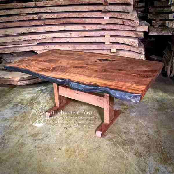 Live Edge Wood Slab Dining Table