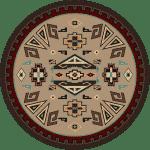 Round southwest rug