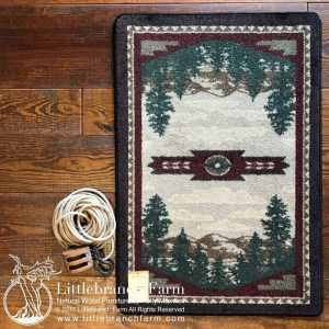 mountain range rug