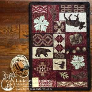 mountain lodge rug design