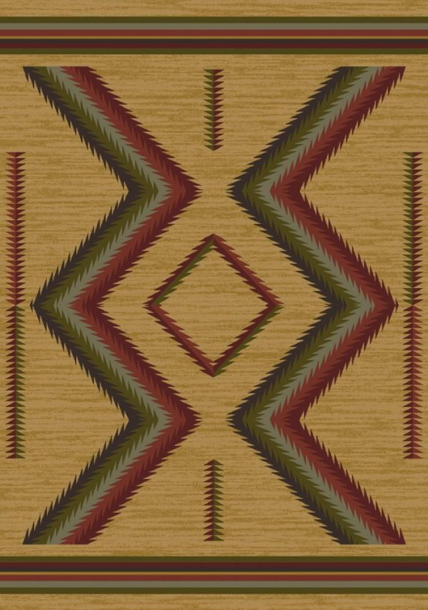 Gold southwestern area rug