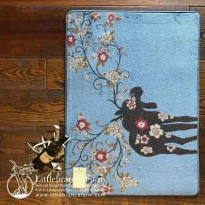 blue moose rug