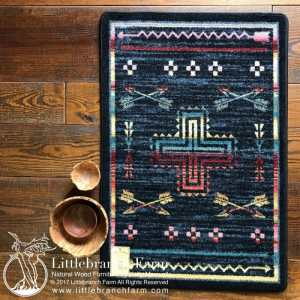 Blue southwest rug