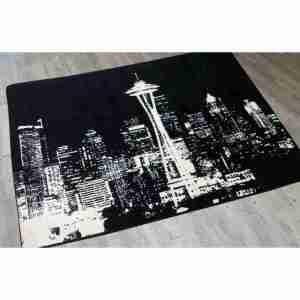 Seattles skyline rug