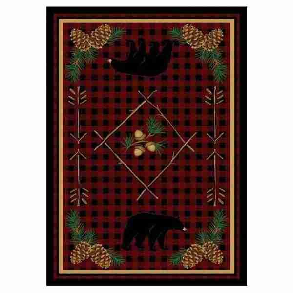 Red bear rug