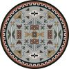 Round rug with southwest design