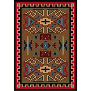 Native rustic rug