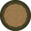 Round pine cone rug