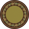 Round mosaic area rug