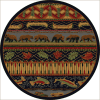 Great outdoors round rug