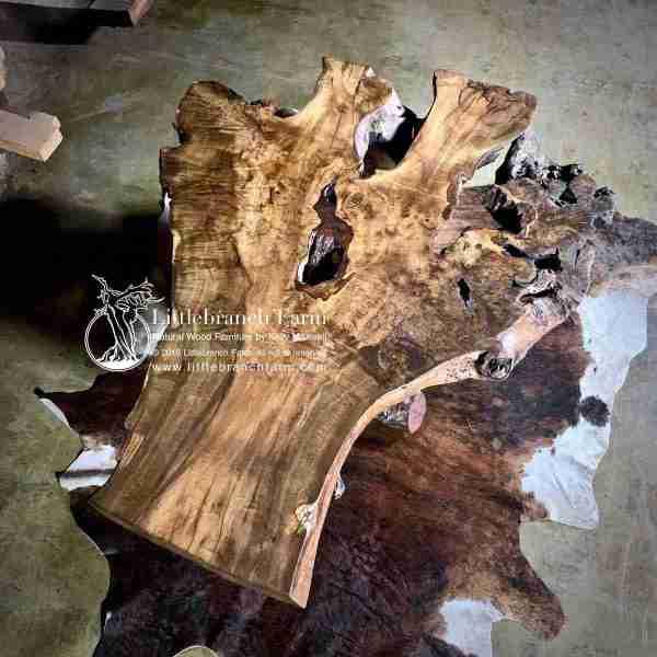 Live edge burl wood furnitue