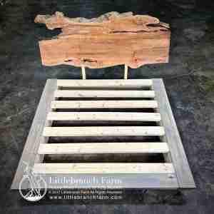 Rustic platfom bed