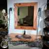 Wood slab rustic vanity