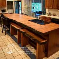 Natural wood countertops - live edge wood slabs ...