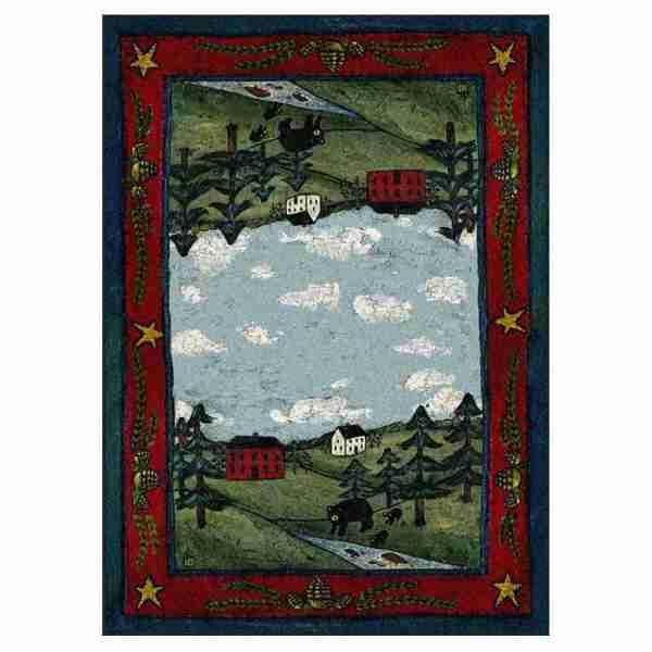 Bear farm area rug