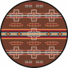 round brown cross rug