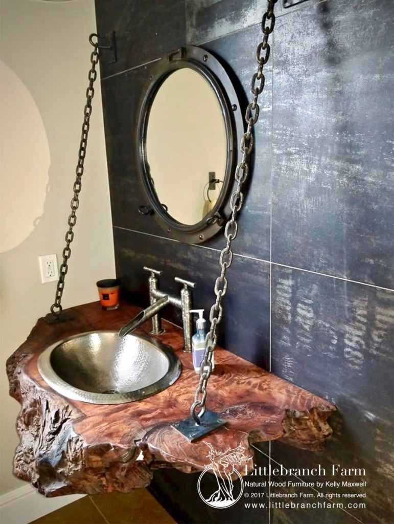 Live edge Floating vanity