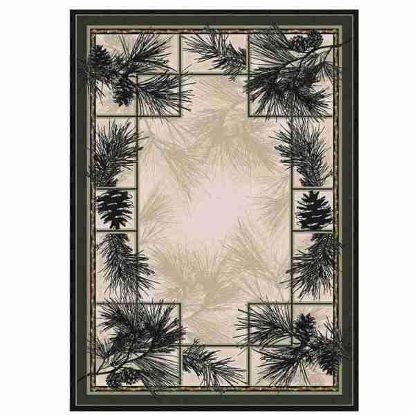 Pine bow area rug