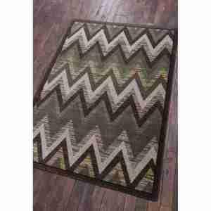 Modern rain flame rug